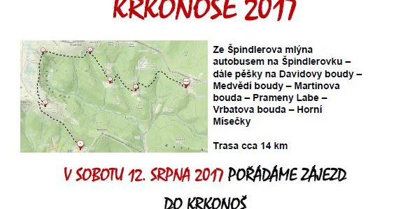 Zájezd do Krkonoš 12.7.2017